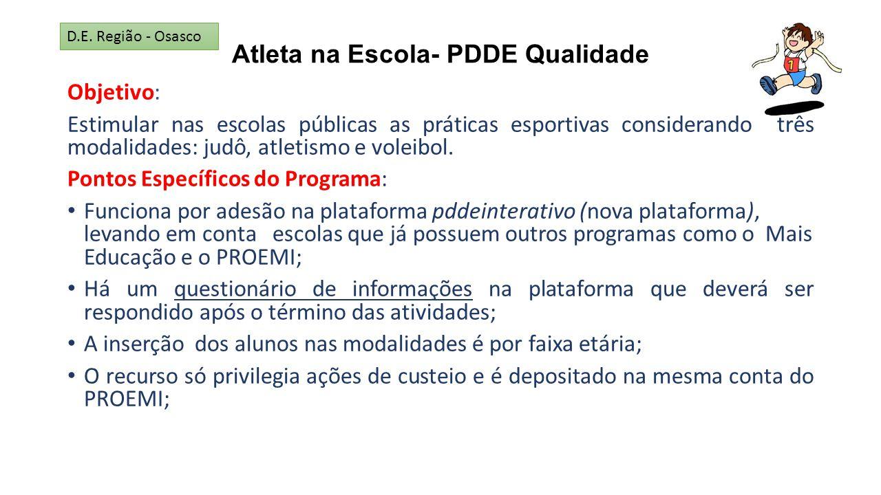 Atleta na Escola- PDDE Qualidade