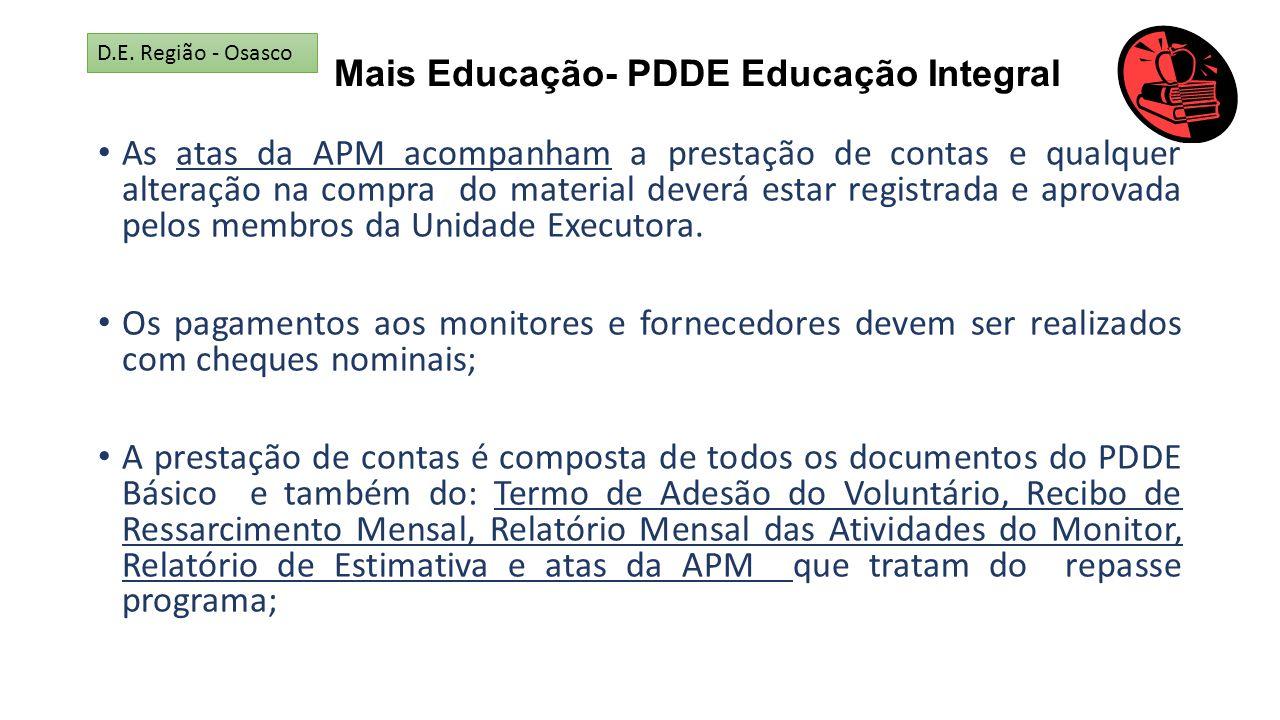 Mais Educação- PDDE Educação Integral