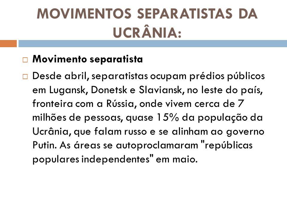 MOVIMENTOS SEPARATISTAS DA UCRÂNIA:
