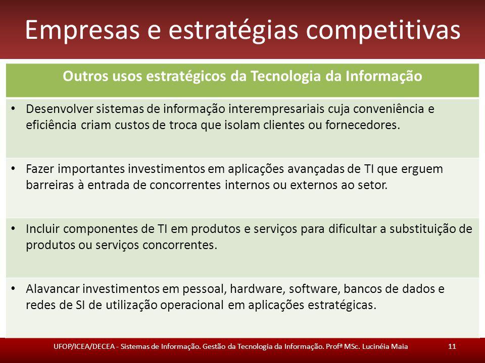 Empresas e estratégias competitivas