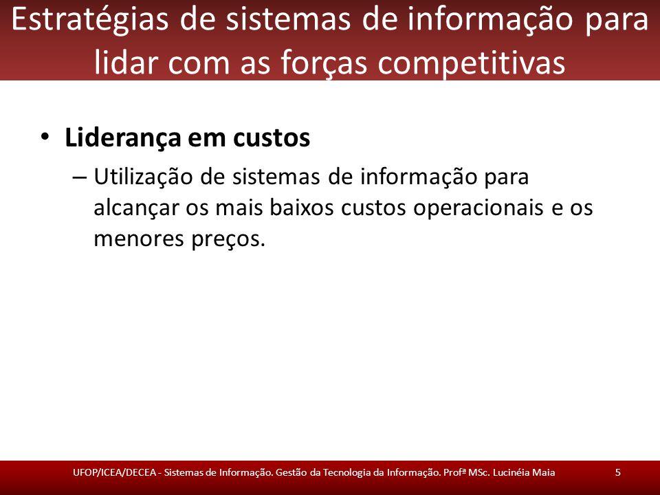 Estratégias de sistemas de informação para lidar com as forças competitivas