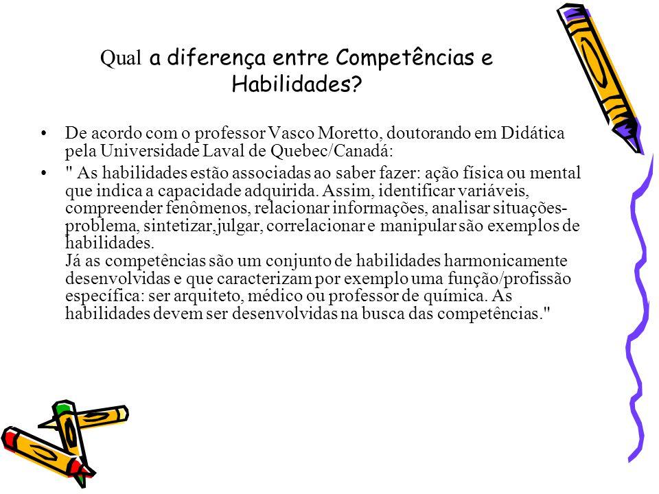 Qual a diferença entre Competências e Habilidades