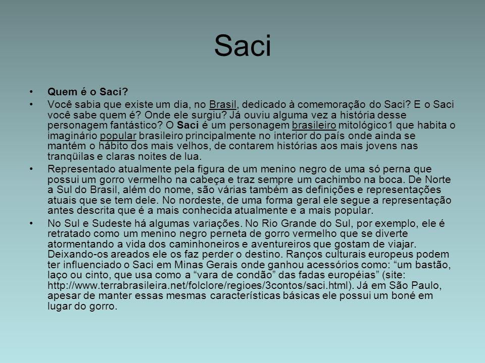 Saci Quem é o Saci