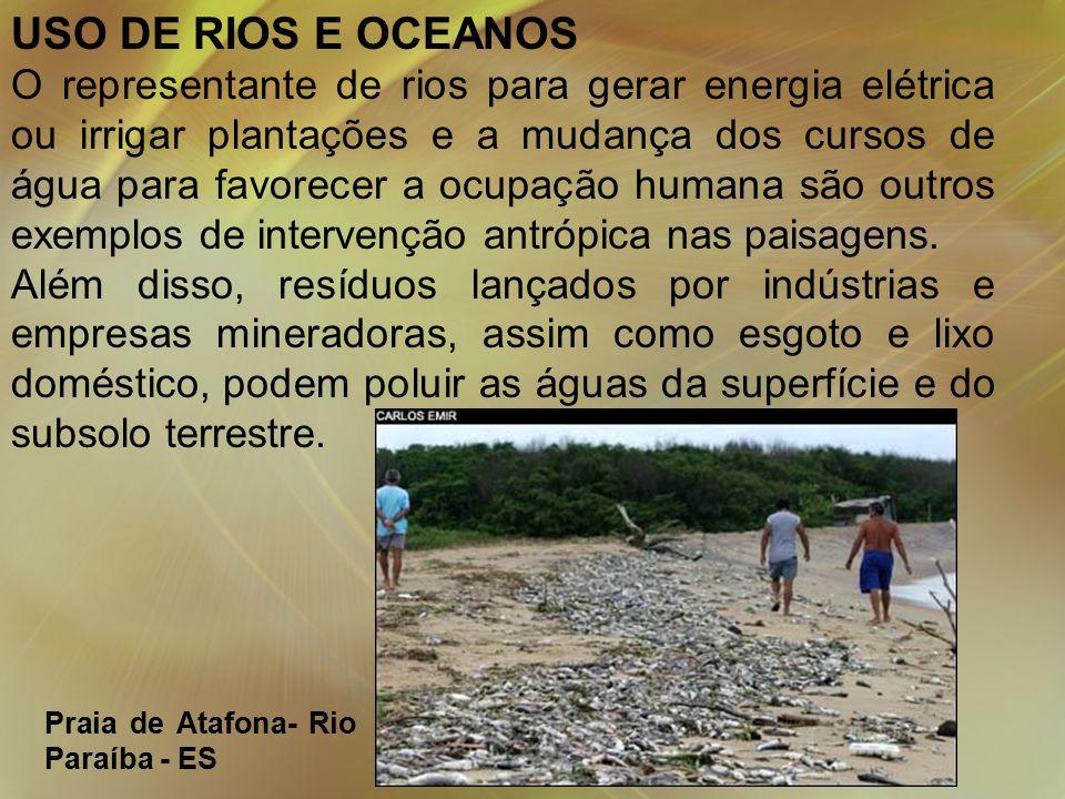 USO DE RIOS E OCEANOS