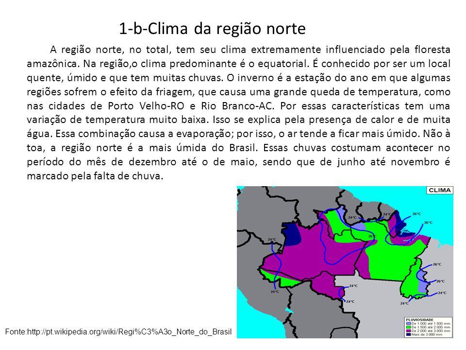 Trabalho de geografia regi o norte do brasil ppt carregar for Temperatura frigo da 1 a 7