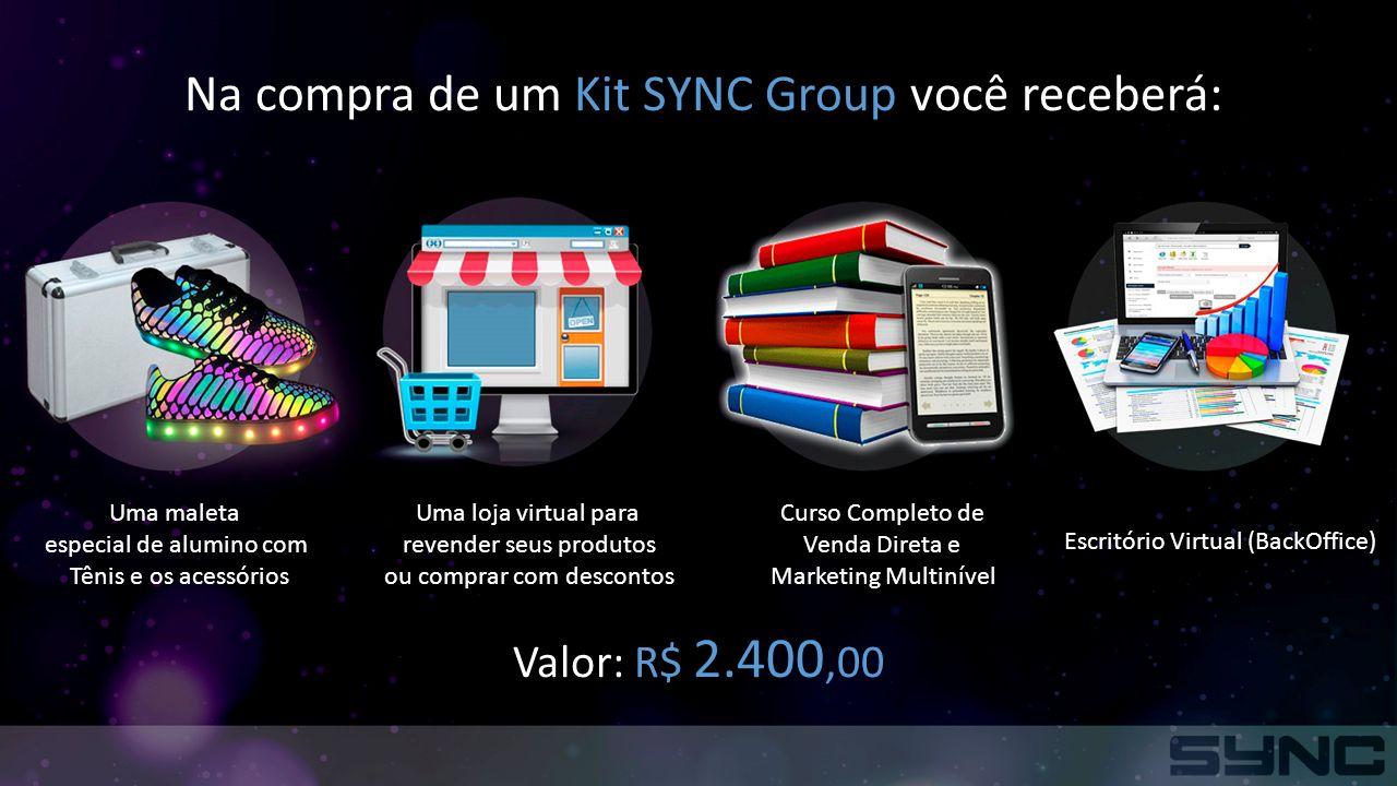 Na compra de um Kit SYNC Group você receberá: