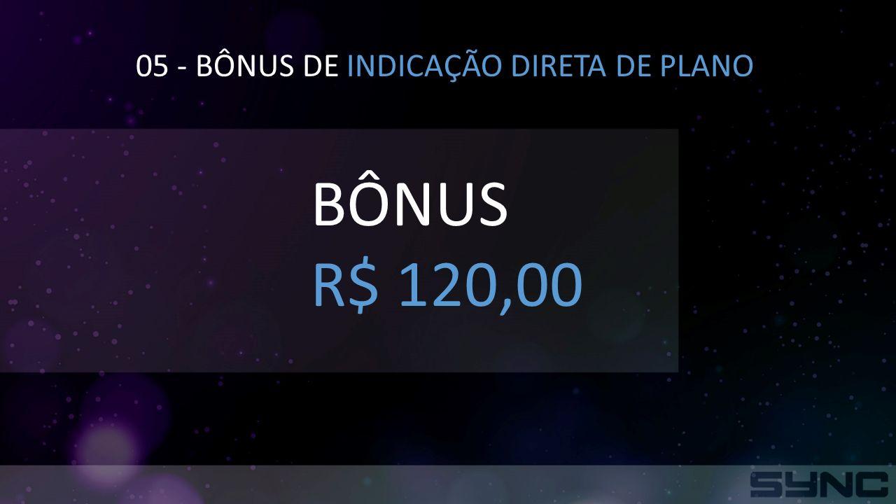 05 - BÔNUS DE INDICAÇÃO DIRETA DE PLANO