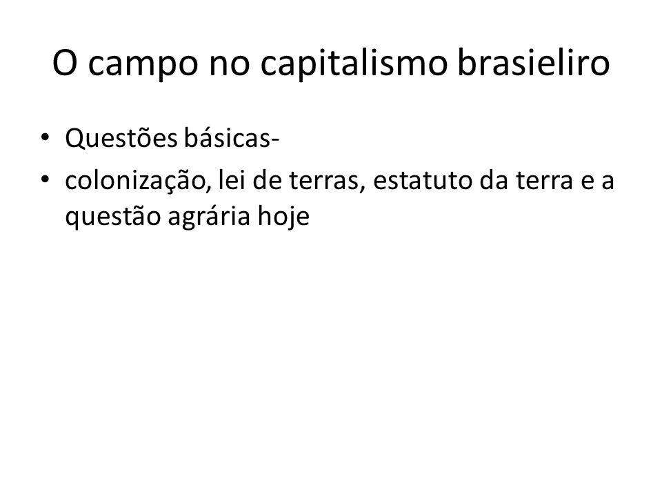 O campo no capitalismo brasieliro