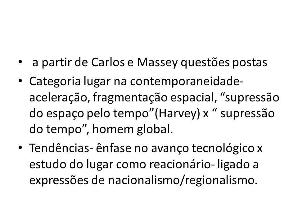 a partir de Carlos e Massey questões postas