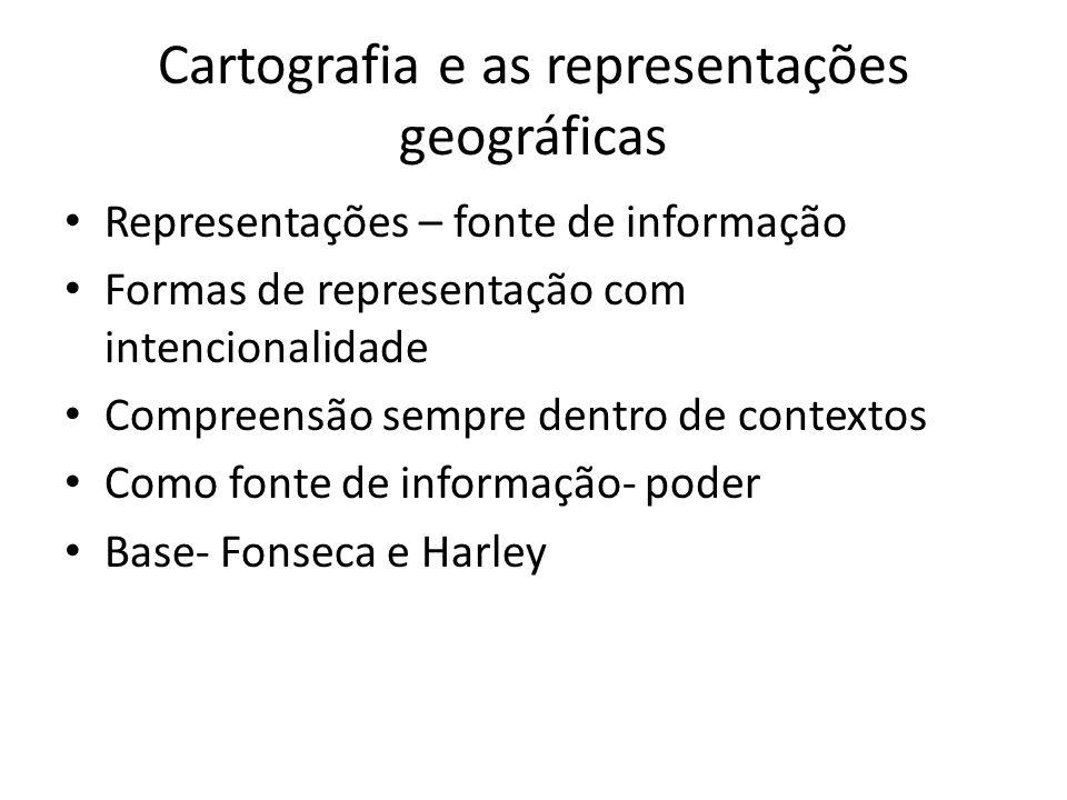 Cartografia e as representações geográficas