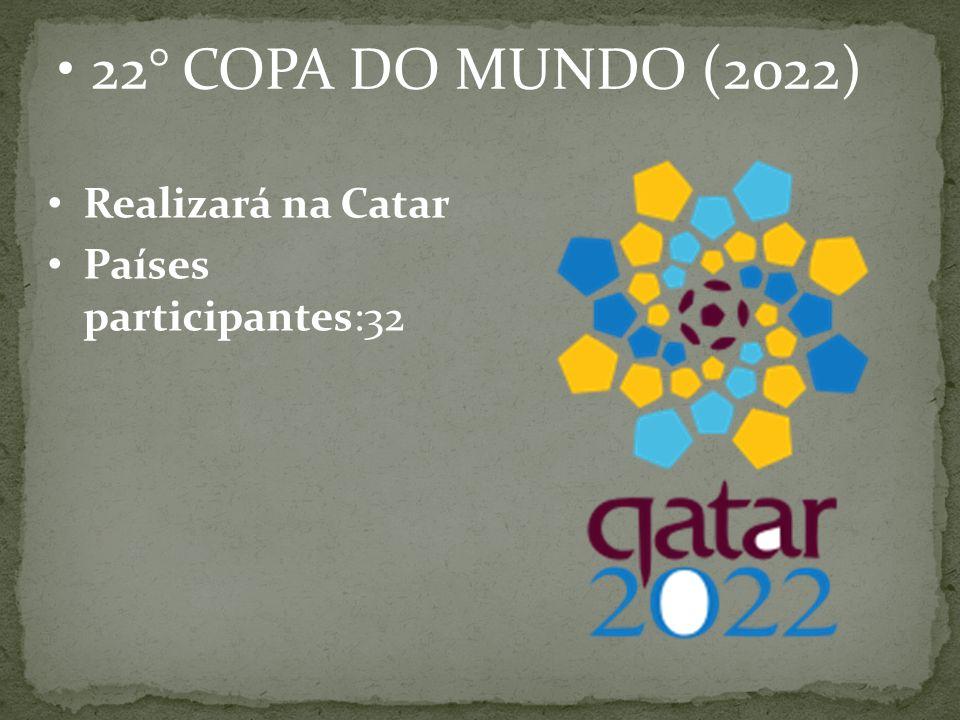 22° COPA DO MUNDO (2022) Realizará na Catar Países participantes:32