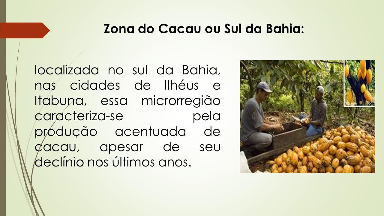 Zona do Cacau ou Sul da Bahia: