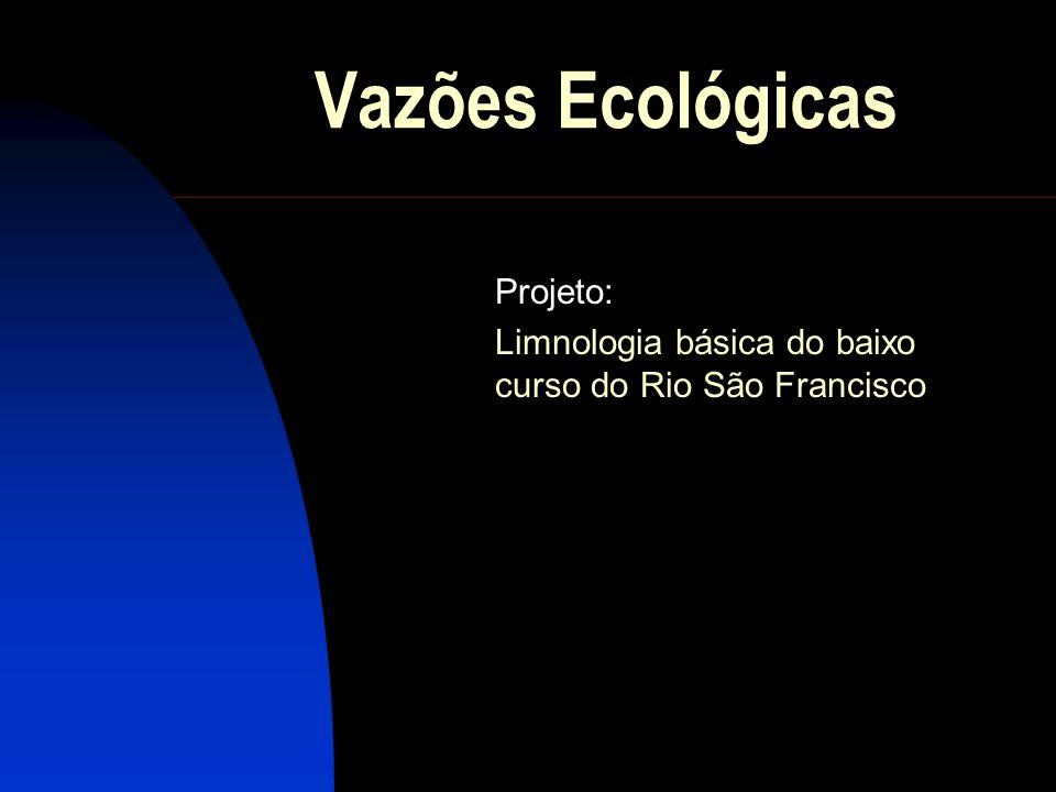 Projeto: Limnologia básica do baixo curso do Rio São Francisco