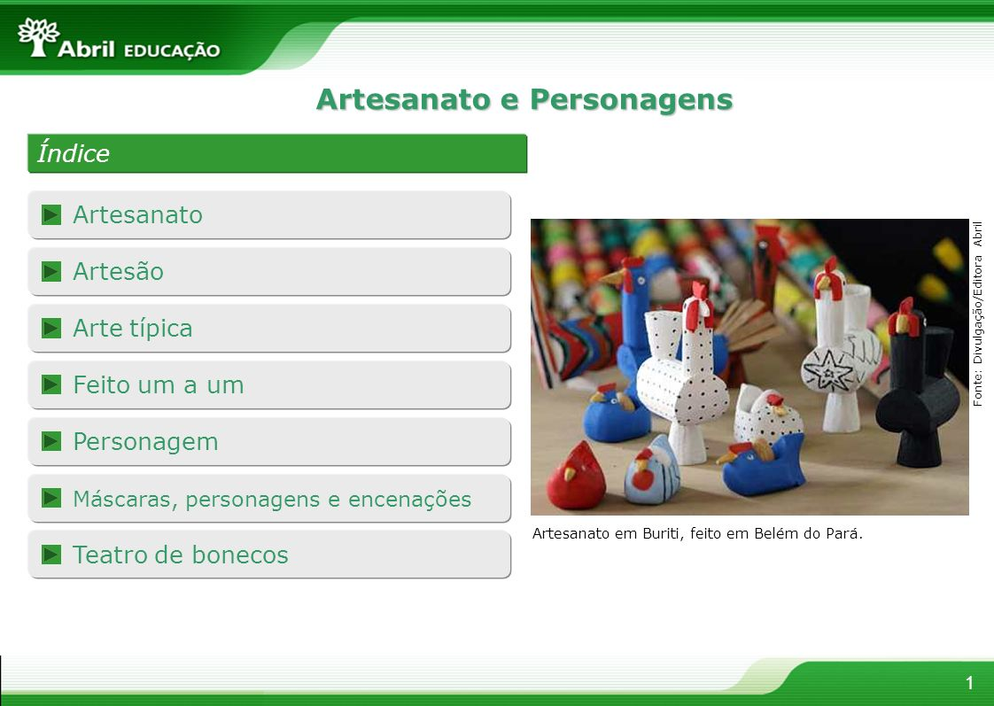 Artesanato e Personagens