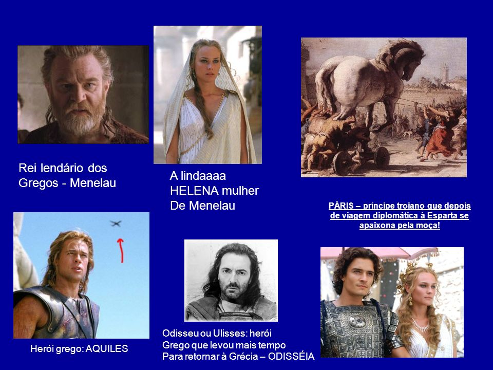 Rei lendário dos Gregos - Menelau A lindaaaa HELENA mulher De Menelau