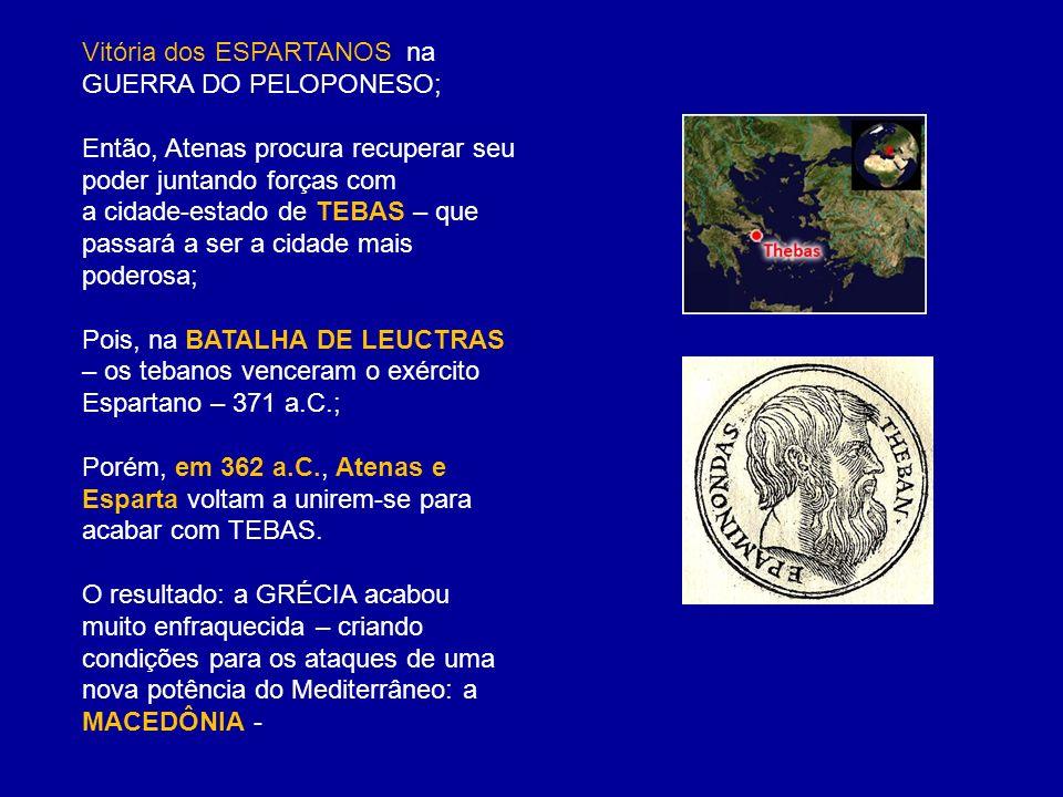 Vitória dos ESPARTANOS na GUERRA DO PELOPONESO;