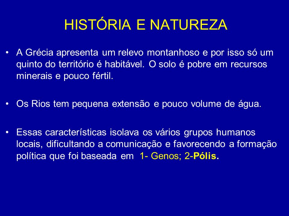HISTÓRIA E NATUREZA