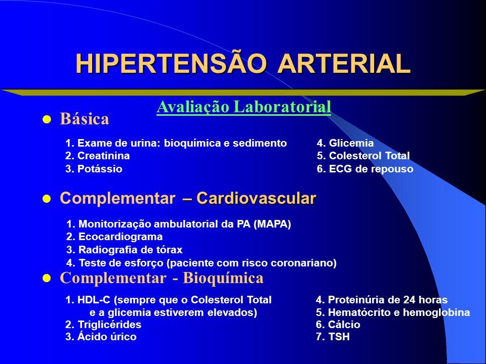 HIPERTENSÃO ARTERIAL Avaliação Laboratorial Básica