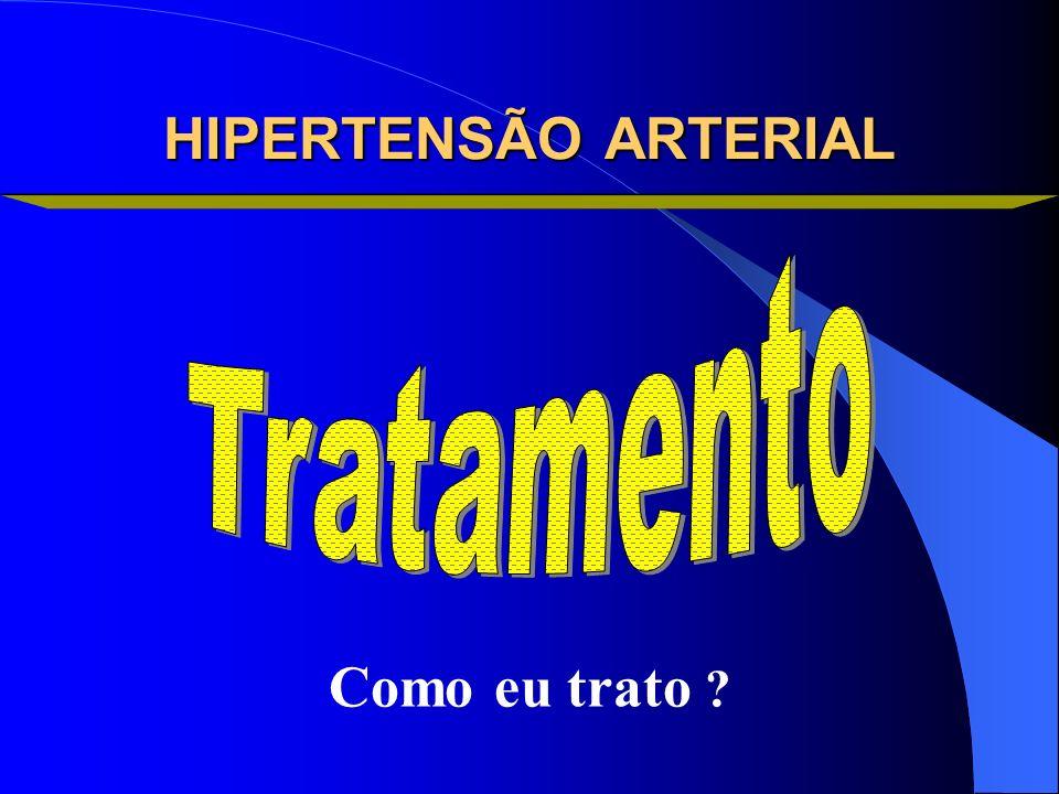 HIPERTENSÃO ARTERIAL Tratamento Como eu trato