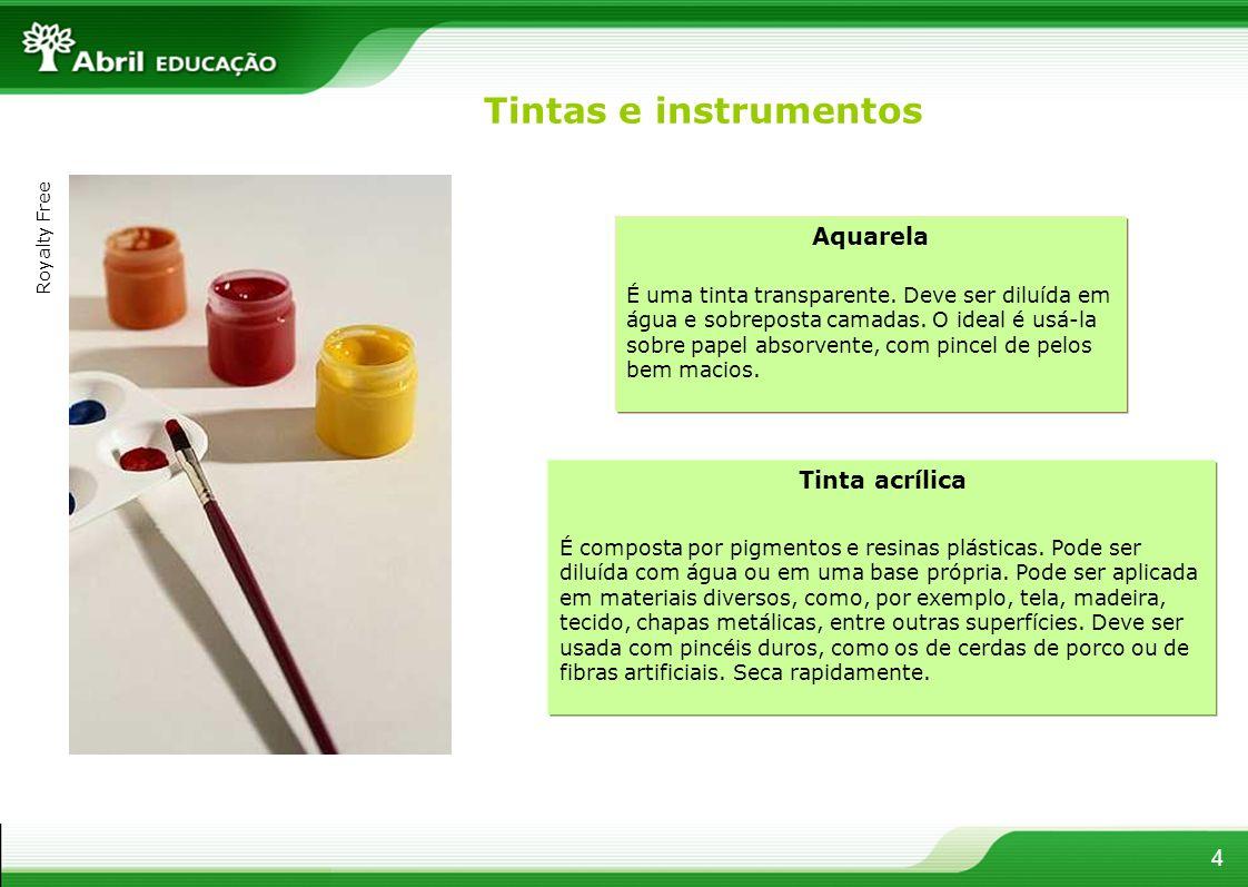Tintas e instrumentos Aquarela Tinta acrílica