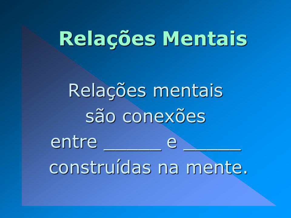 Relações Mentais Relações mentais são conexões entre _____ e _____