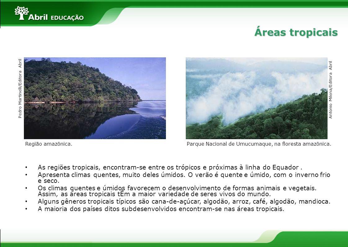 Áreas tropicais Pedro Martinelli/Editora Abril. Antonio Milena/Editora Abril. Região amazônica.