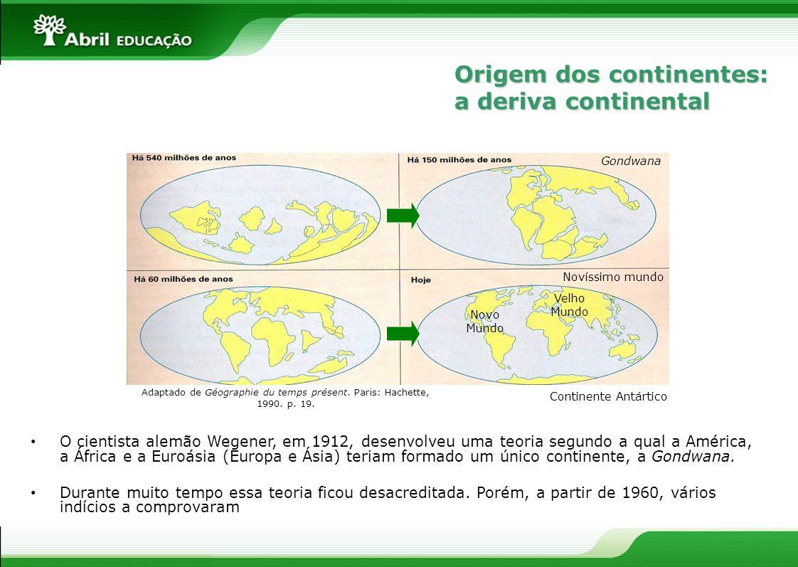 Adaptado de Géographie du temps présent. Paris: Hachette, 1990. p. 19.