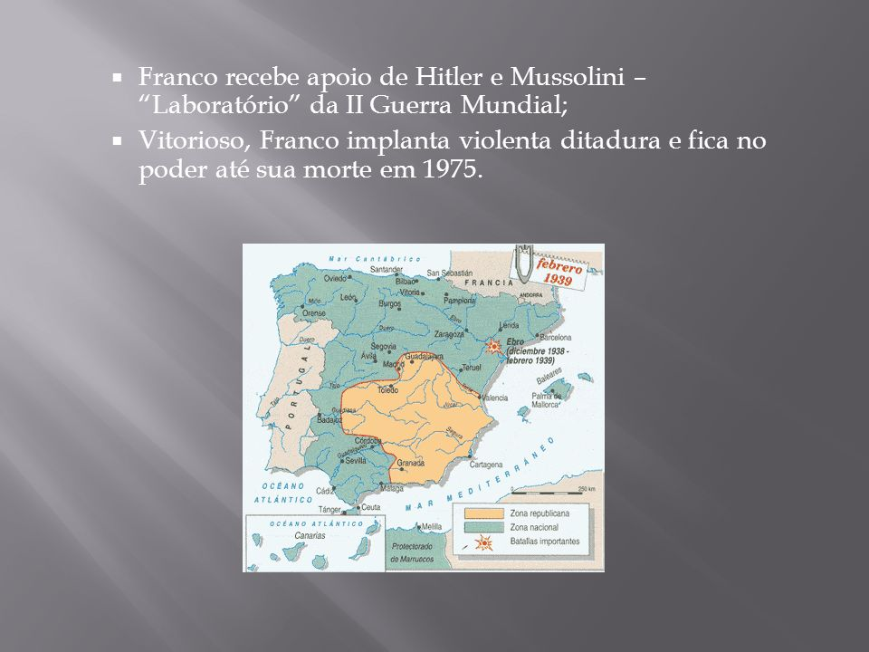 Franco recebe apoio de Hitler e Mussolini – Laboratório da II Guerra Mundial;