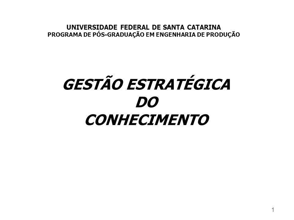 GESTÃO ESTRATÉGICA DO CONHECIMENTO