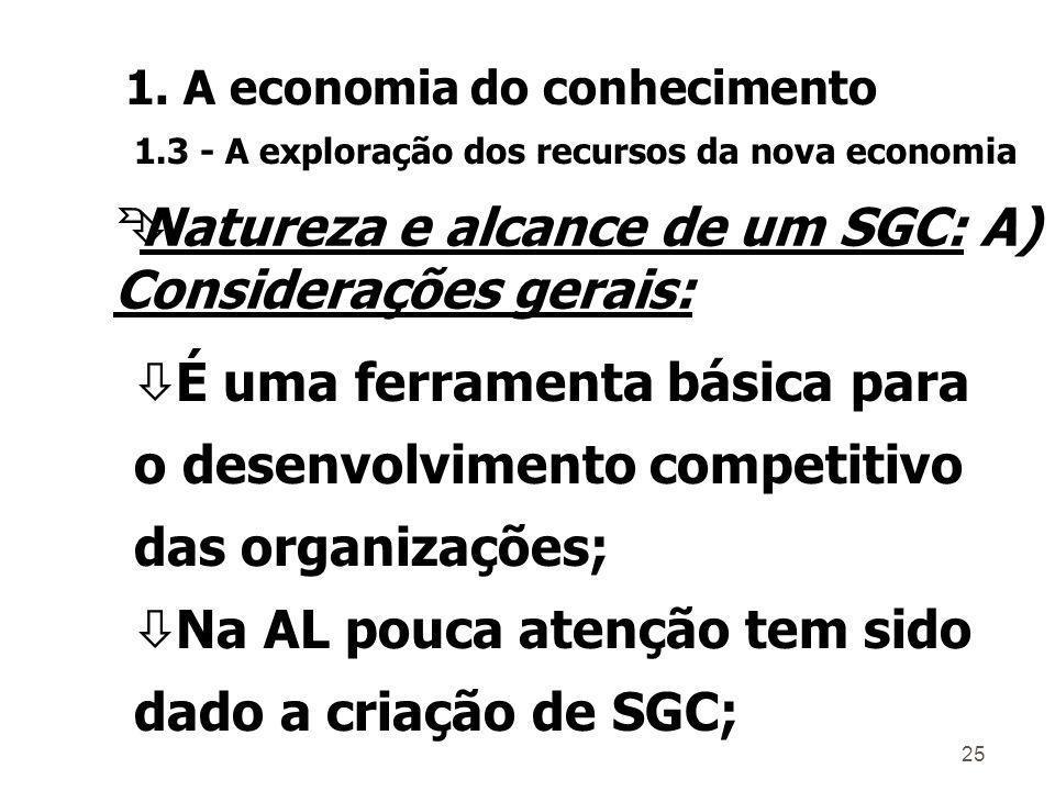 Natureza e alcance de um SGC: A) Considerações gerais: