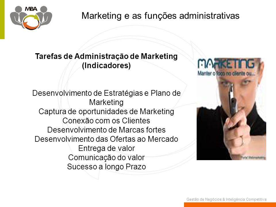 Tarefas de Administração de Marketing