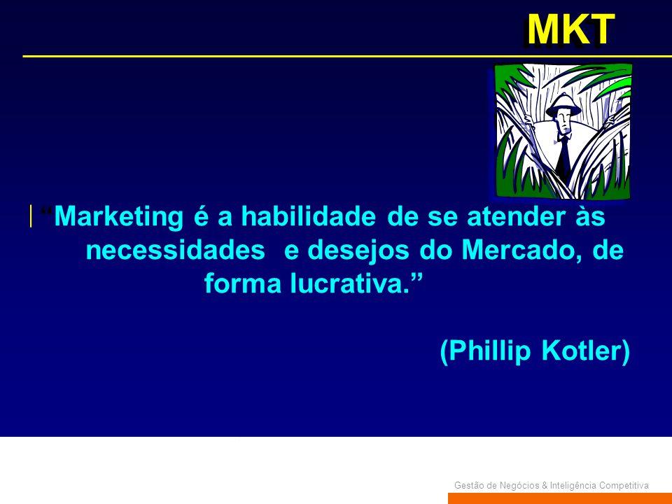 necessidades e desejos do Mercado, de forma lucrativa.