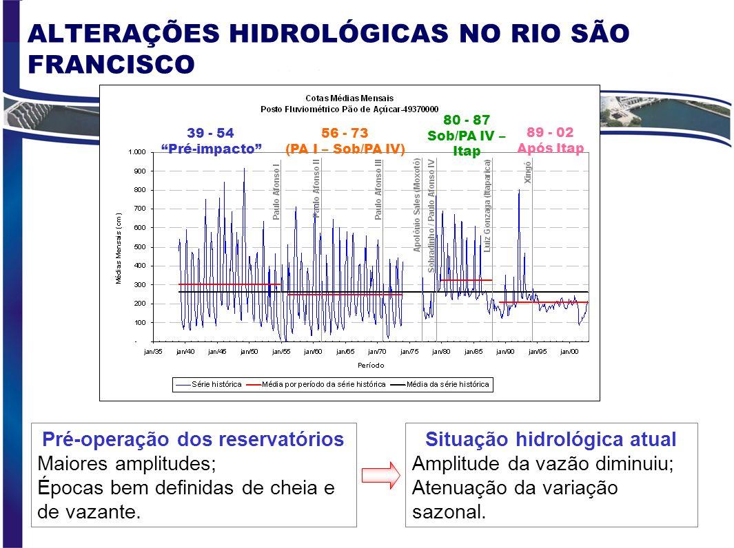 ALTERAÇÕES HIDROLÓGICAS NO RIO SÃO FRANCISCO