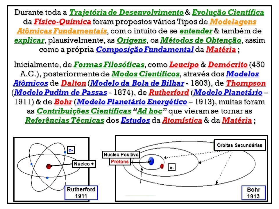 Durante toda a Trajetória de Desenvolvimento & Evolução Científica