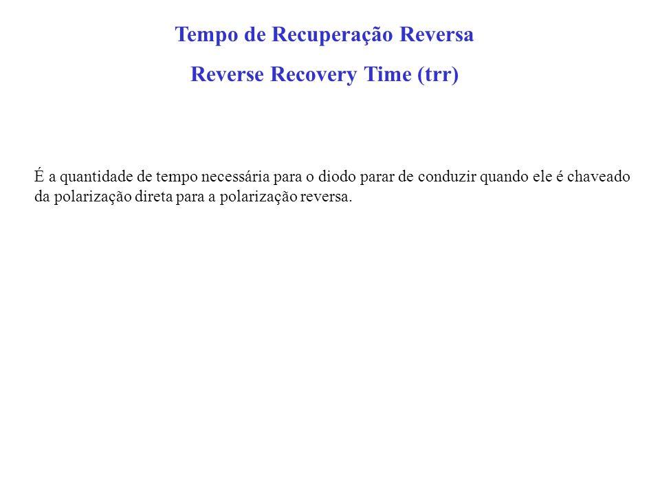 Tempo de Recuperação Reversa Reverse Recovery Time (trr)