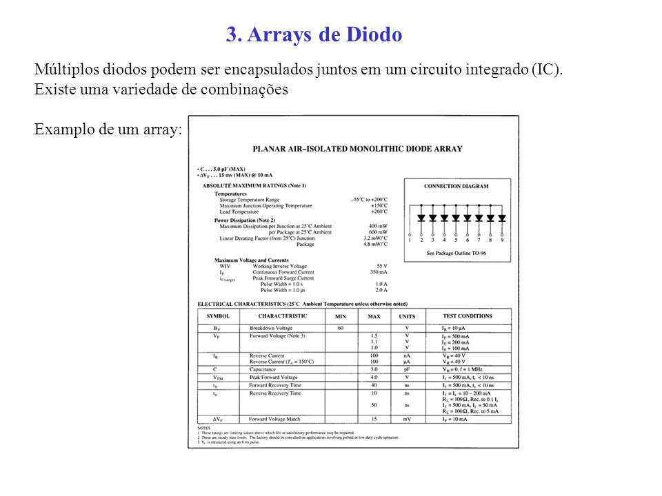 3. Arrays de Diodo