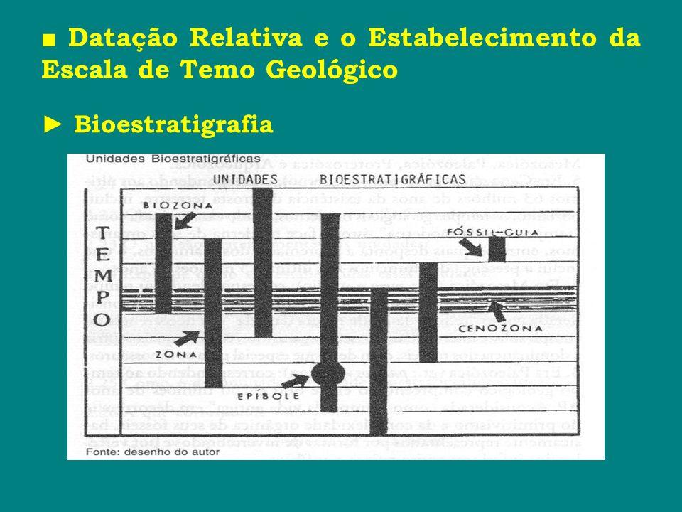 ■ Datação Relativa e o Estabelecimento da Escala de Temo Geológico