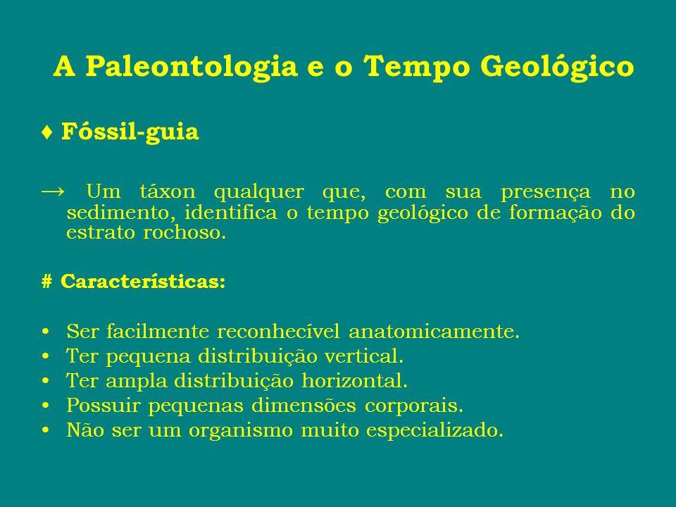 A Paleontologia e o Tempo Geológico