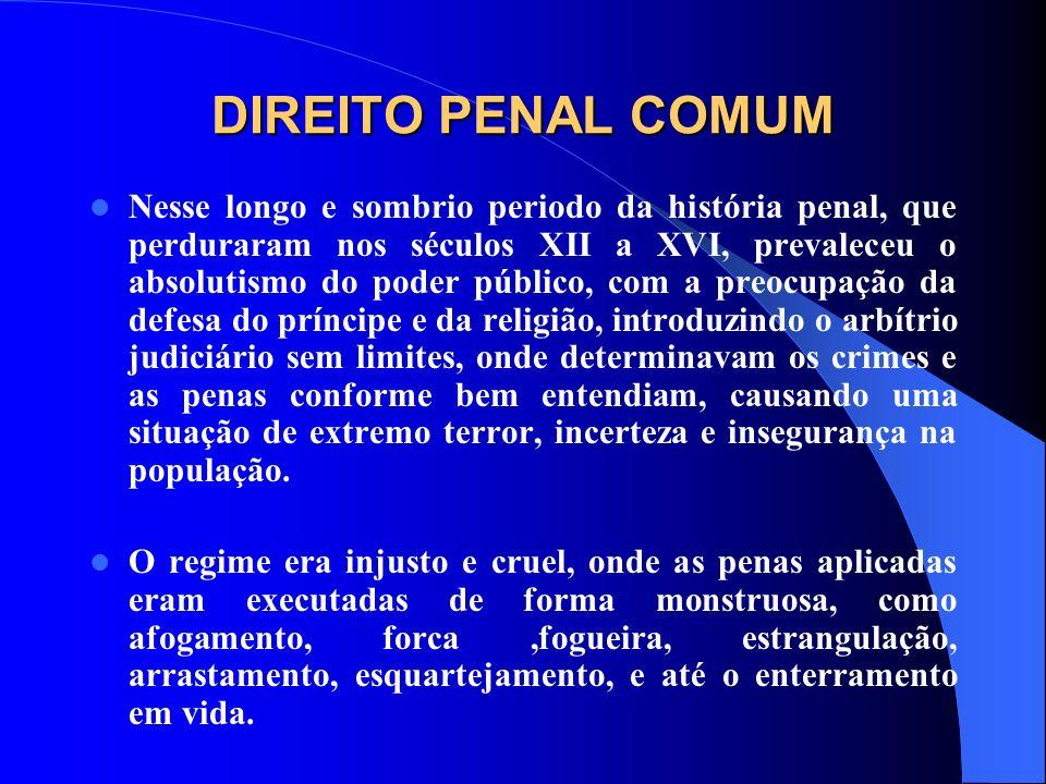 DIREITO PENAL COMUM