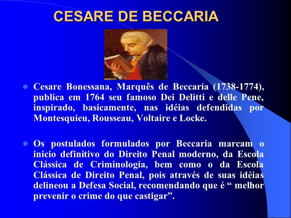 CESARE DE BECCARIA