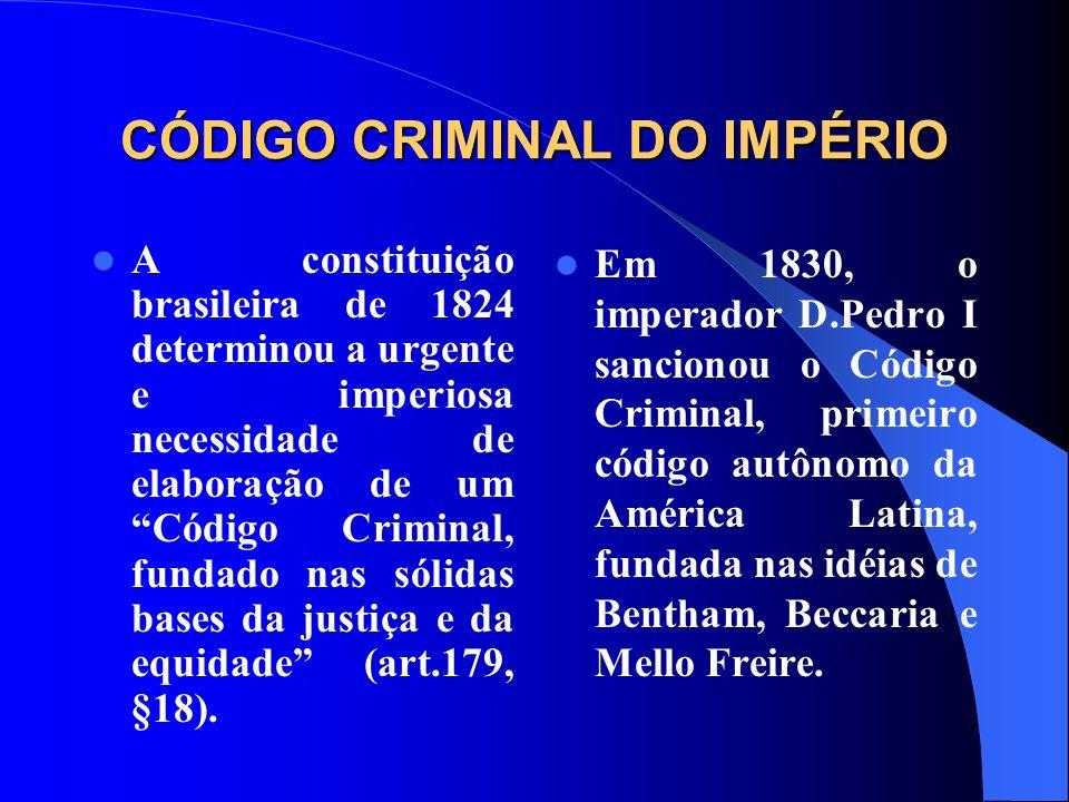CÓDIGO CRIMINAL DO IMPÉRIO