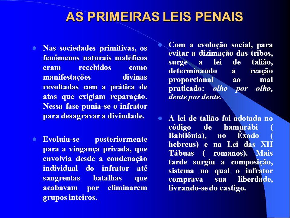 AS PRIMEIRAS LEIS PENAIS