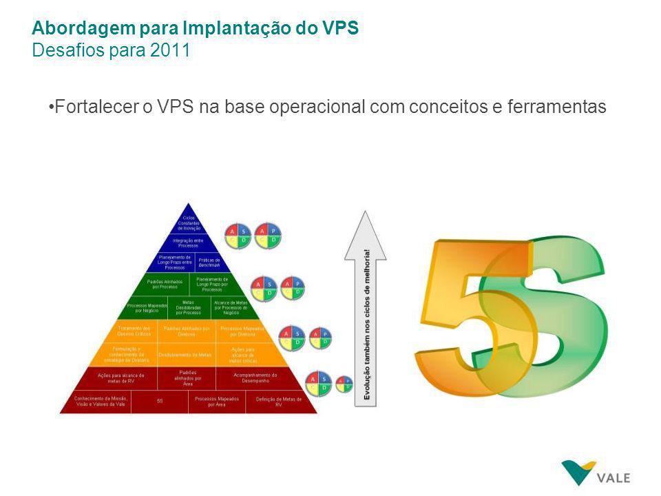 Abordagem para Implantação do VPS Desafios para 2011