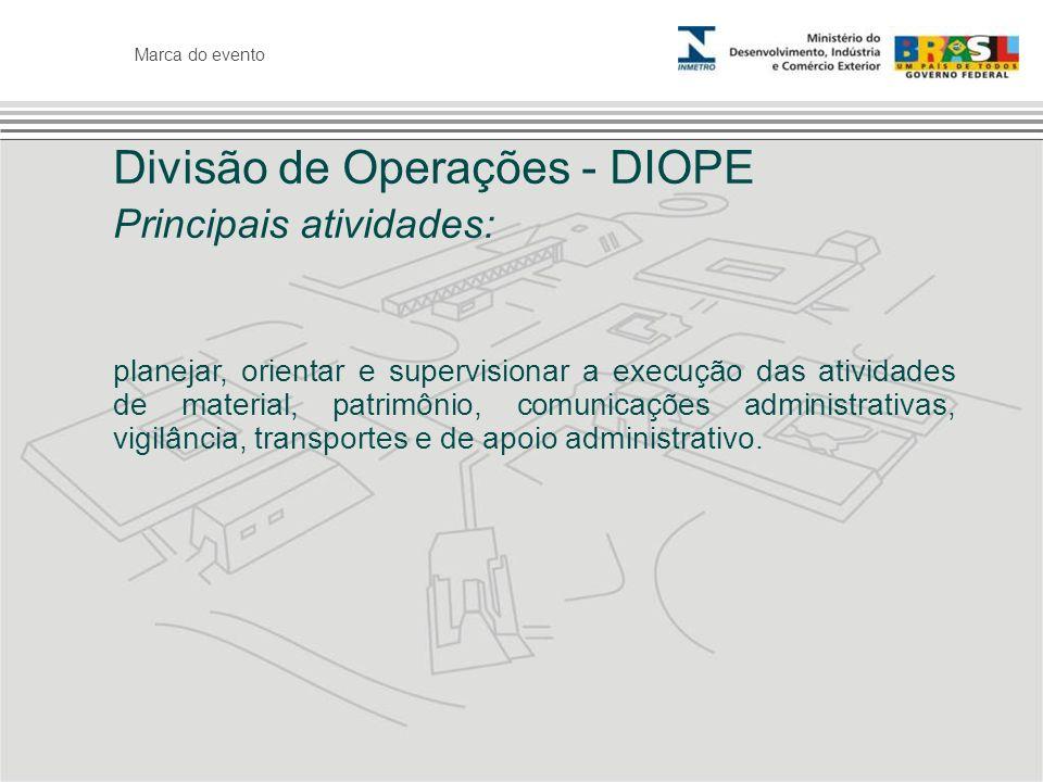 Divisão de Operações - DIOPE