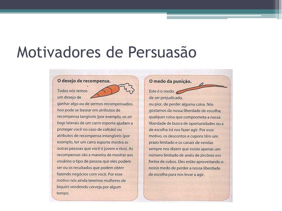 Motivadores de Persuasão