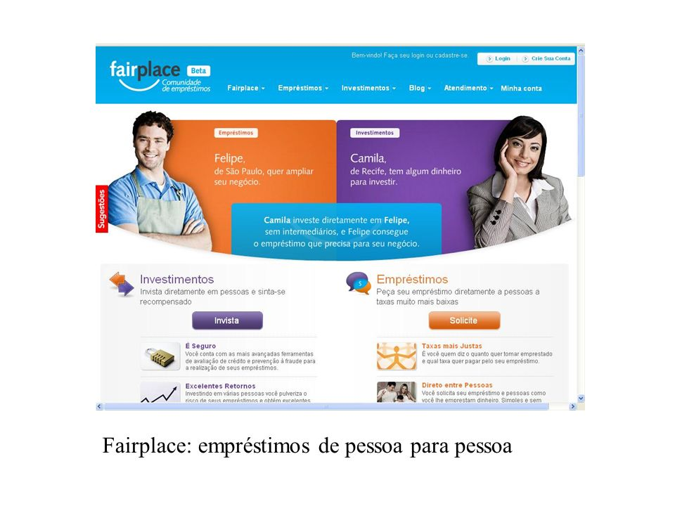 Fairplace: empréstimos de pessoa para pessoa