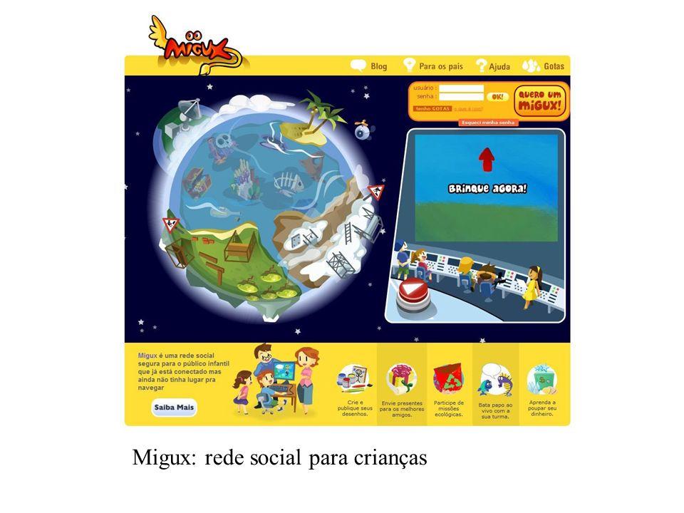 Migux: rede social para crianças