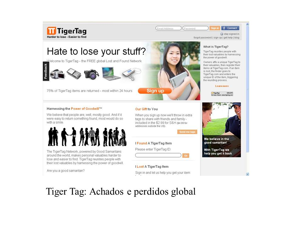 Tiger Tag: Achados e perdidos global