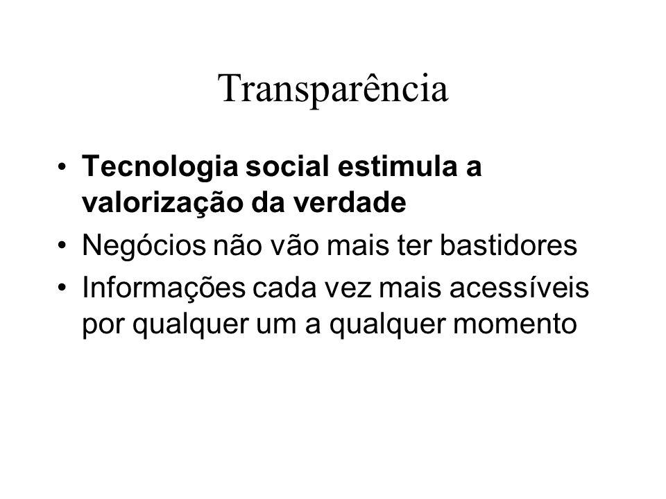 Transparência Tecnologia social estimula a valorização da verdade