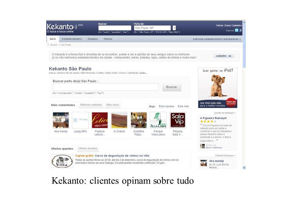 Kekanto: clientes opinam sobre tudo